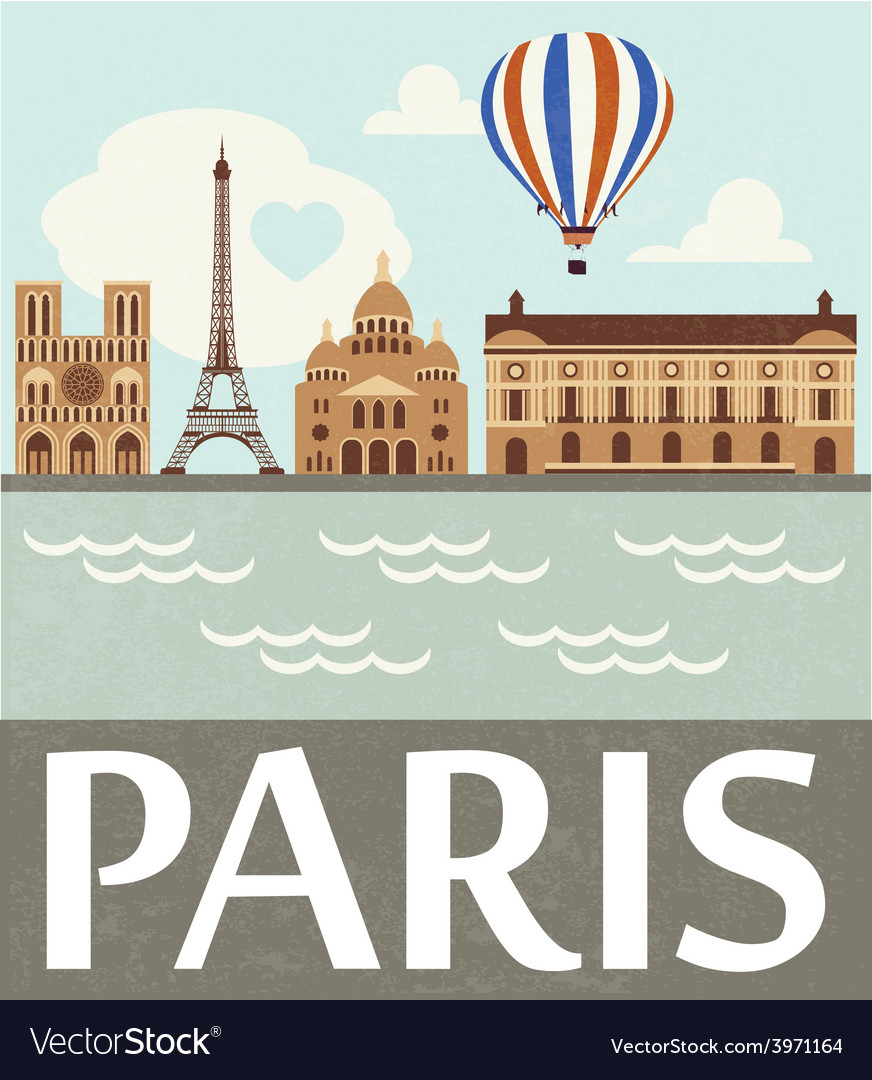Paris vector | Price: 1 Credit (USD $1)