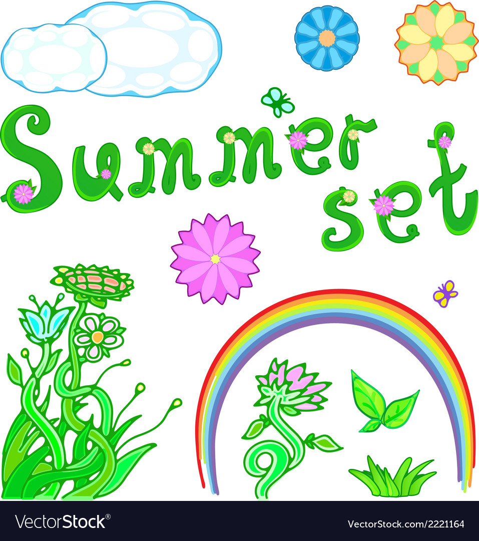 Summer set for design vector | Price: 1 Credit (USD $1)