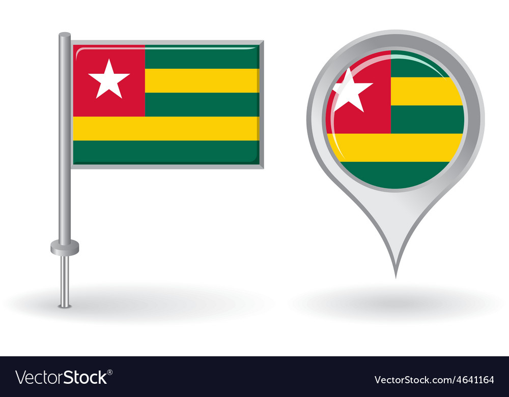 Togolese pin icon and map pointer flag vector | Price: 1 Credit (USD $1)