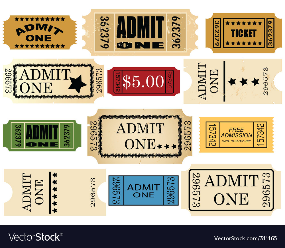 Admit ticket vector | Price: 1 Credit (USD $1)