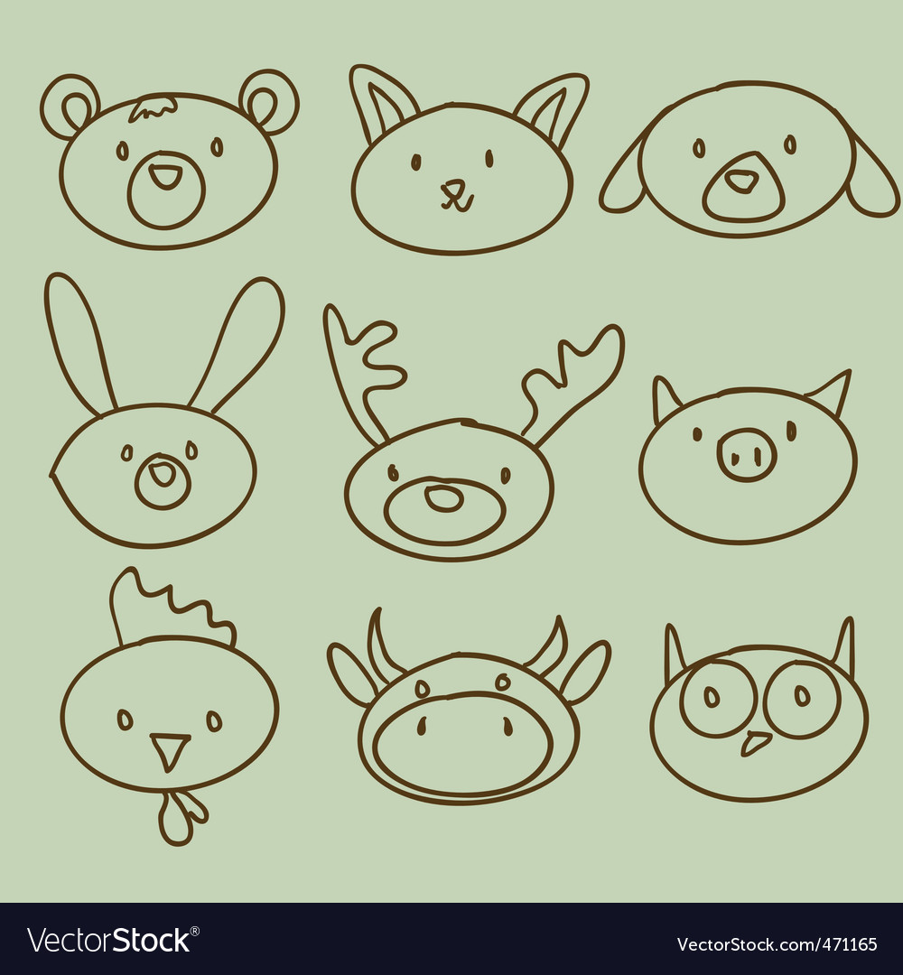 Artistic animals vector | Price: 1 Credit (USD $1)