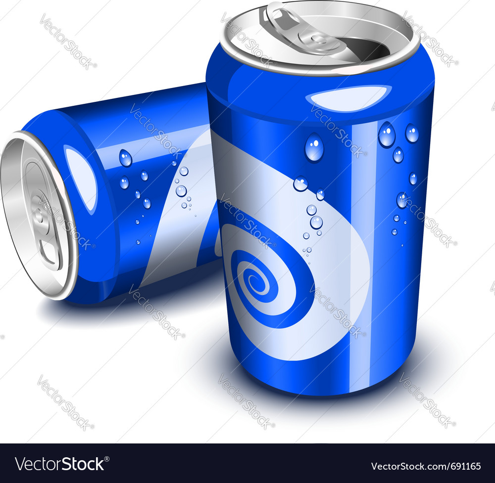 Blue soda cans vector | Price: 3 Credit (USD $3)