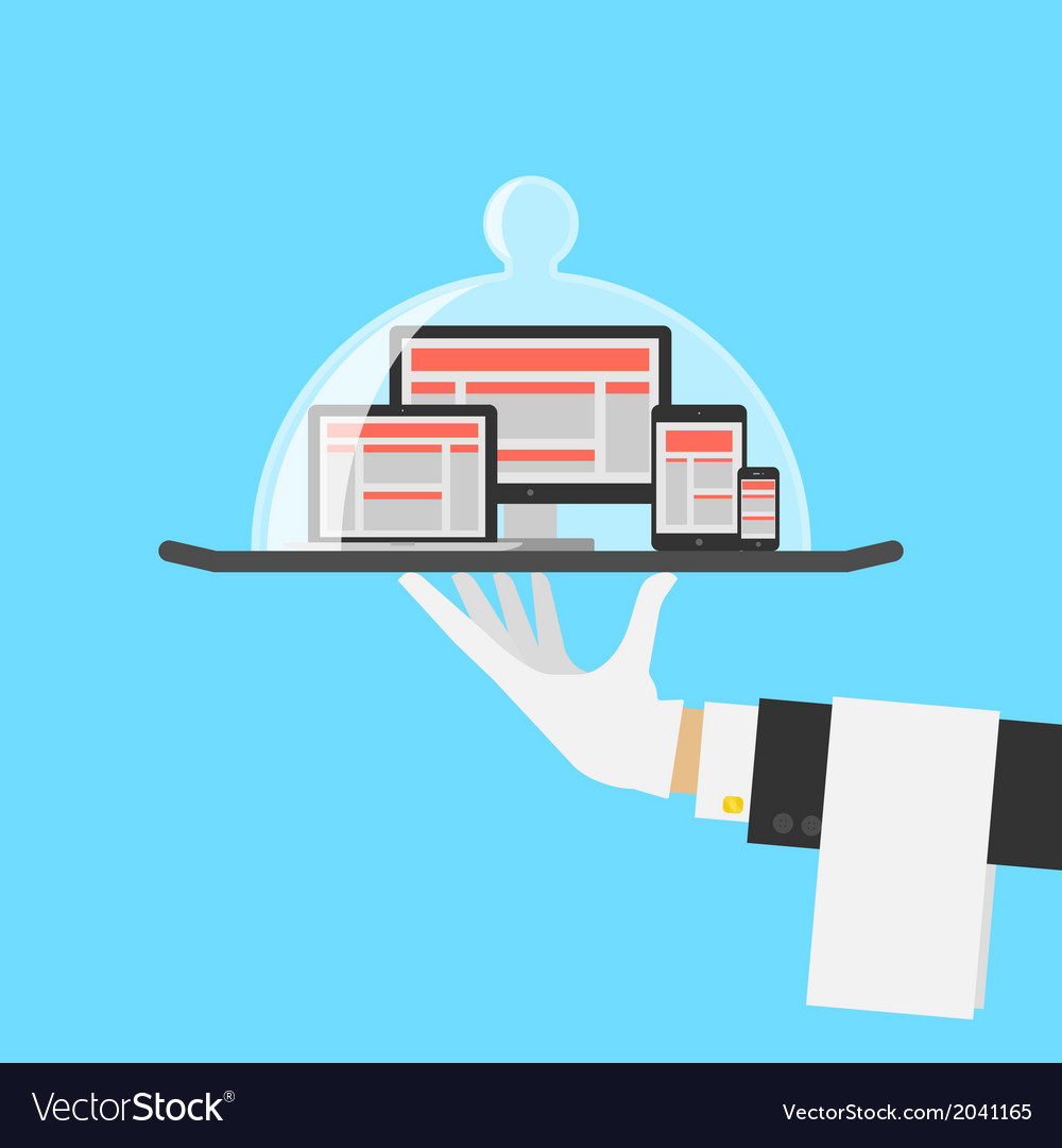 Computer shop or responsive web design service vector | Price: 1 Credit (USD $1)