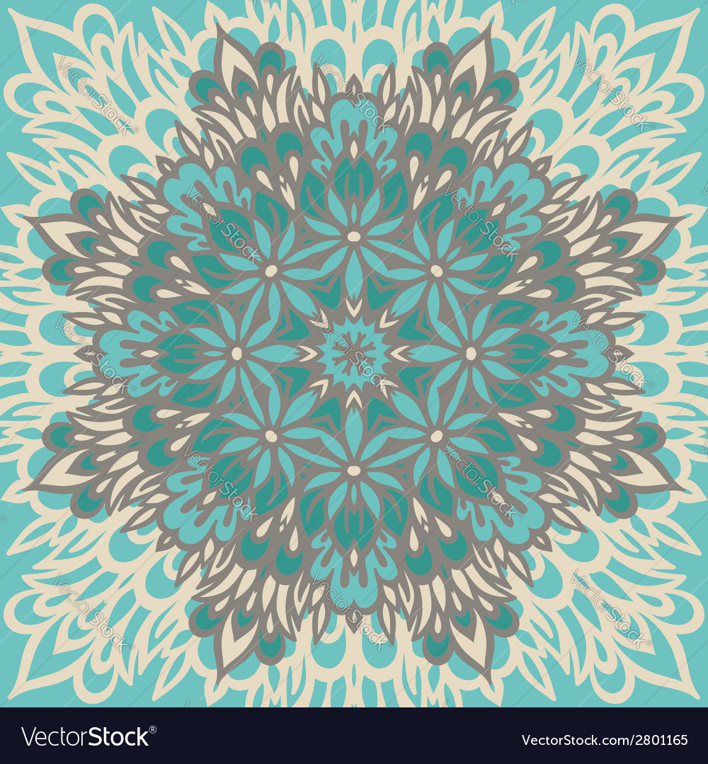 Flower mandala abstract background vector | Price: 1 Credit (USD $1)