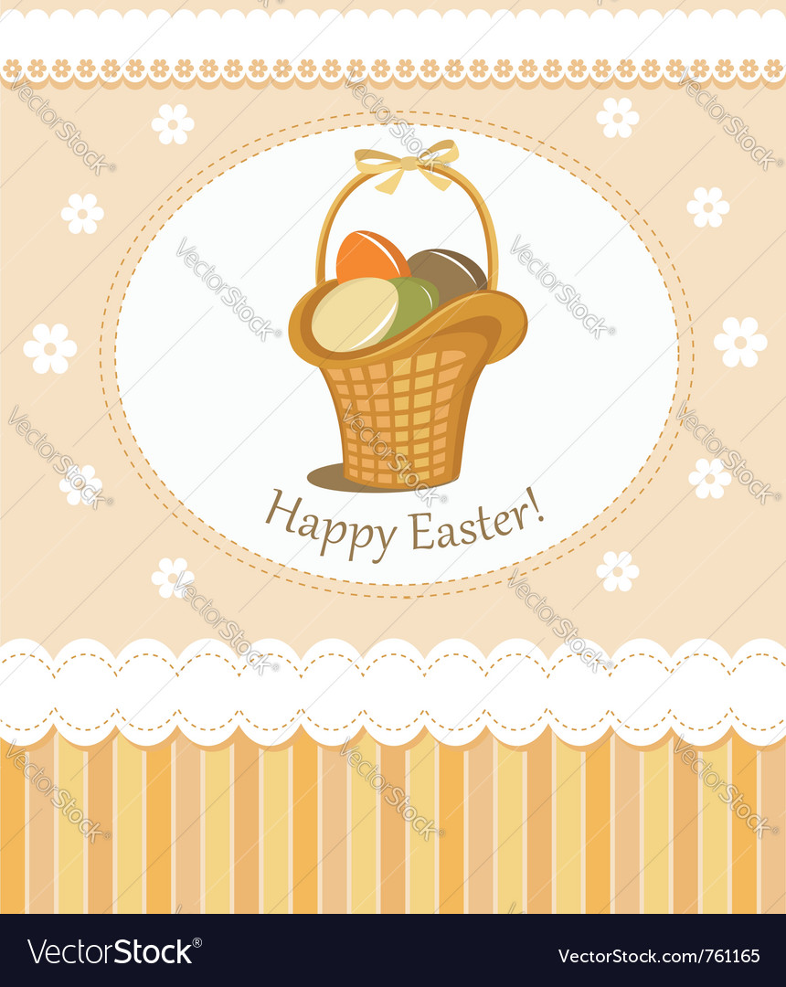 Happy easter greeting card vector | Price:  Credit (USD $)