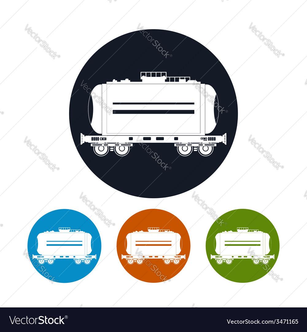 Icon railway car the tank vector | Price: 1 Credit (USD $1)