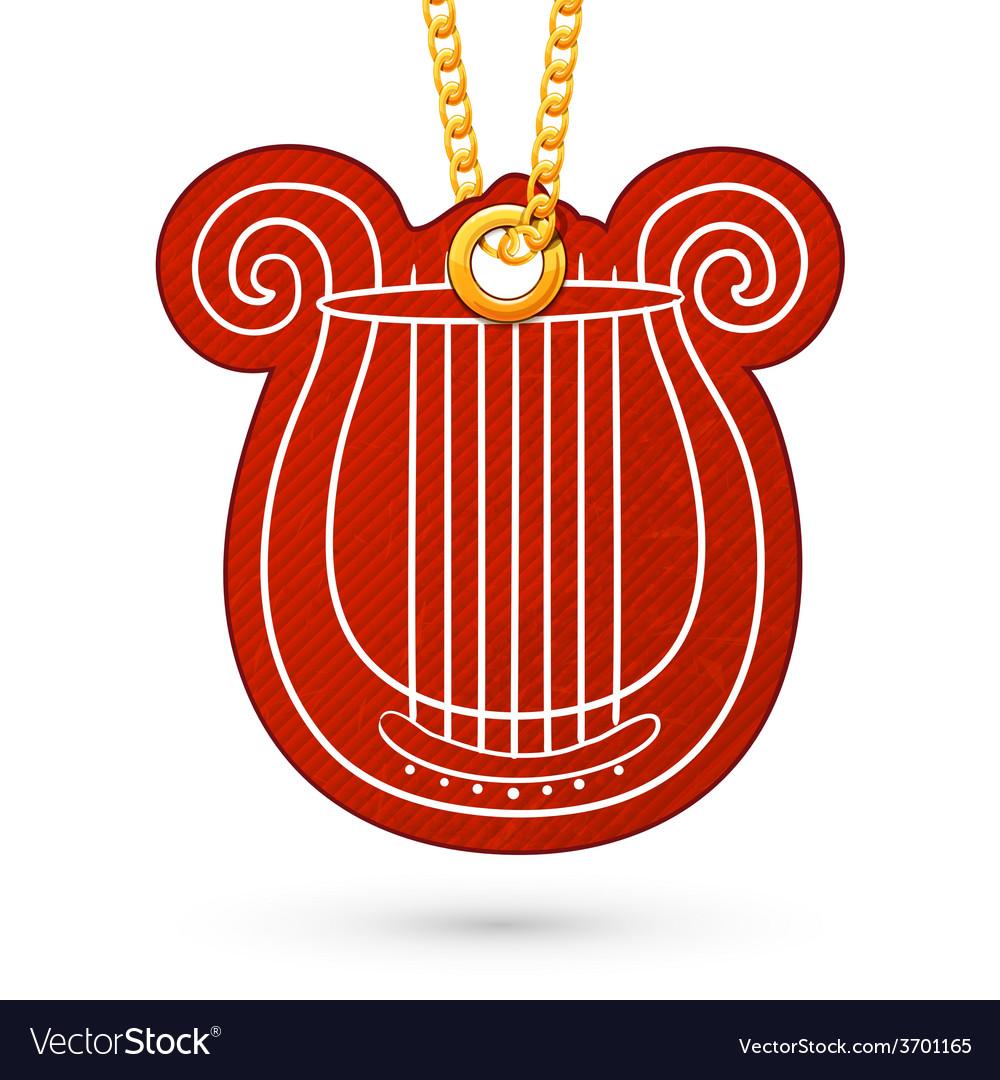 Lire musical instrument vector | Price: 1 Credit (USD $1)