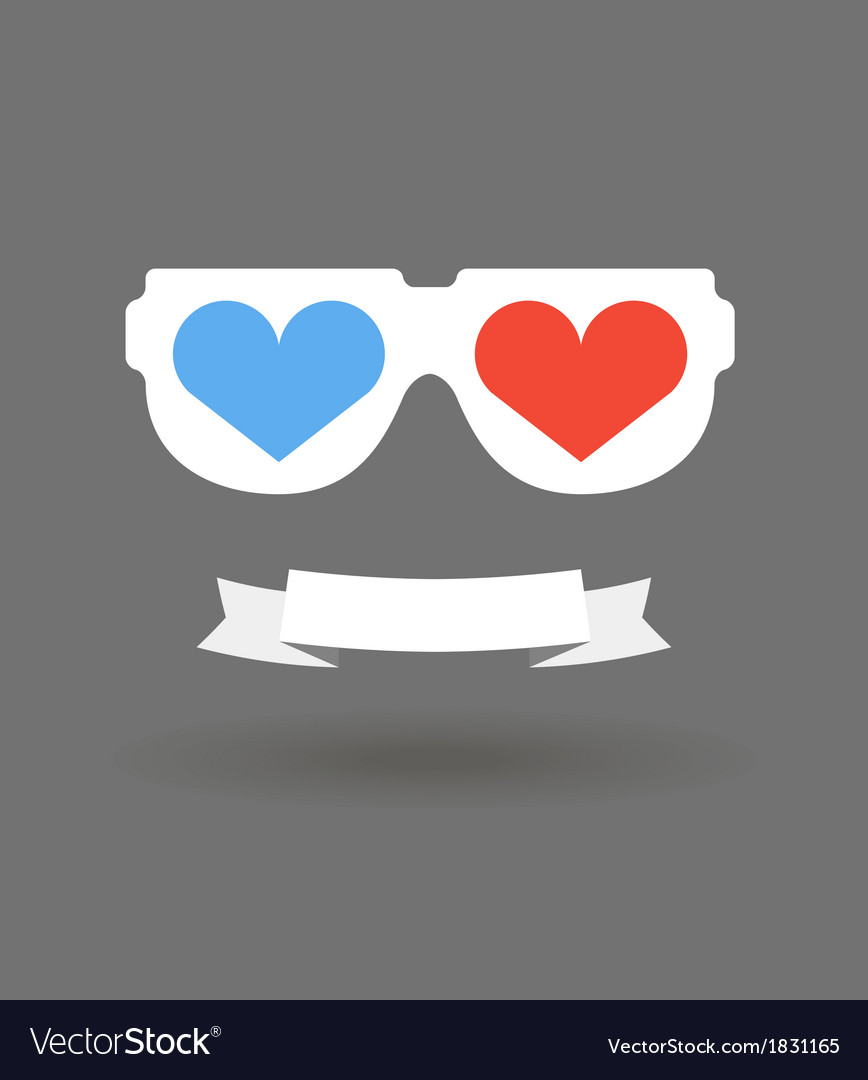 Love glasses vector | Price: 1 Credit (USD $1)