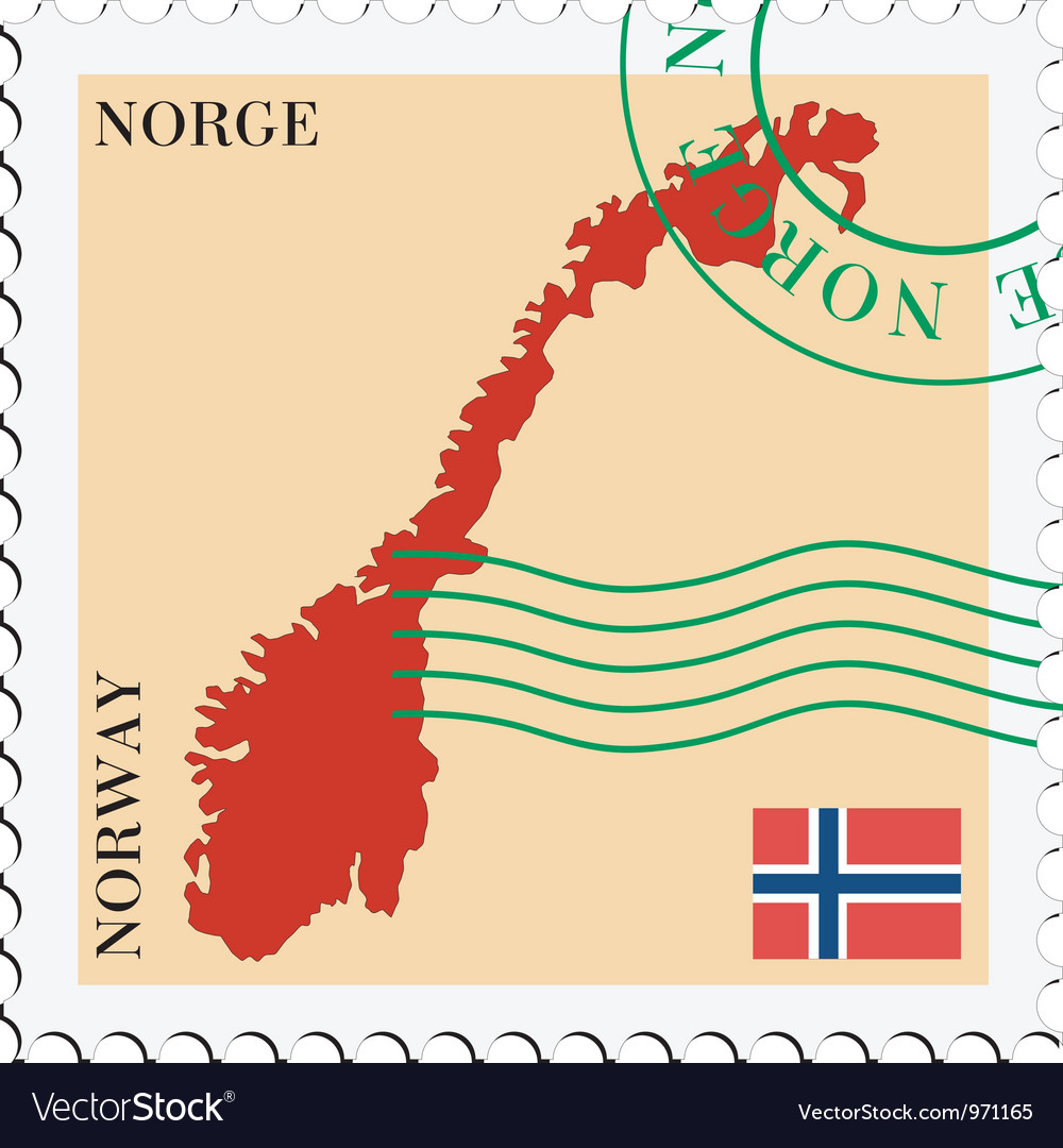 Mail to-from norway vector | Price: 1 Credit (USD $1)