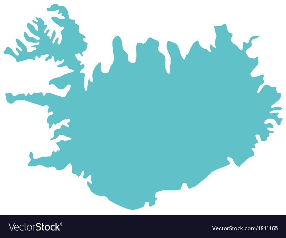 Map of iceland vector | Price: 1 Credit (USD $1)