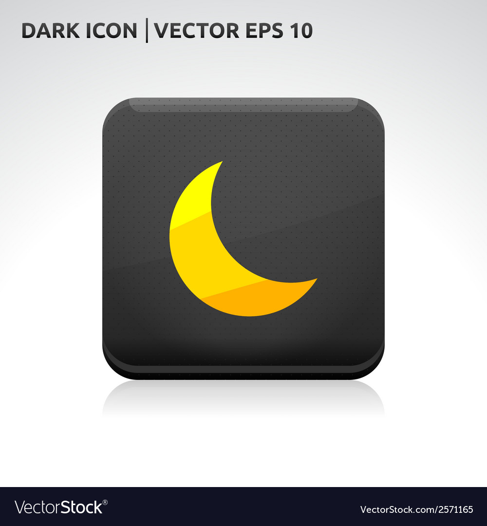 Moon icon gold vector | Price: 1 Credit (USD $1)