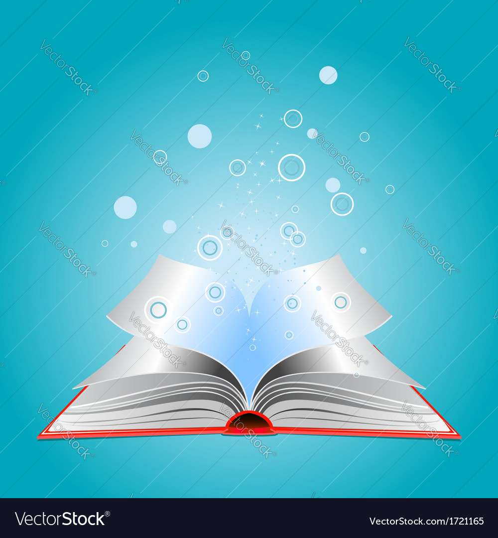 Opened book with particles vector | Price: 1 Credit (USD $1)