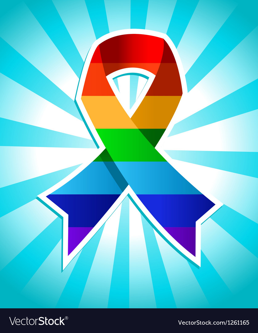 Rainbow pride ribbon vector | Price: 1 Credit (USD $1)