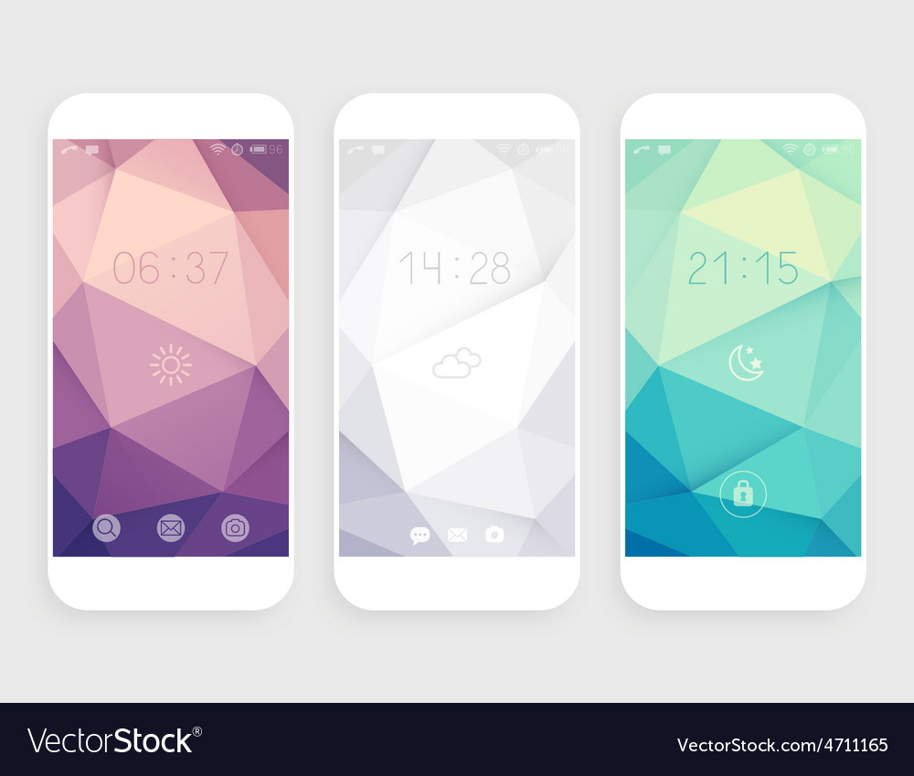 Set of geometric wallpapers vector | Price: 1 Credit (USD $1)