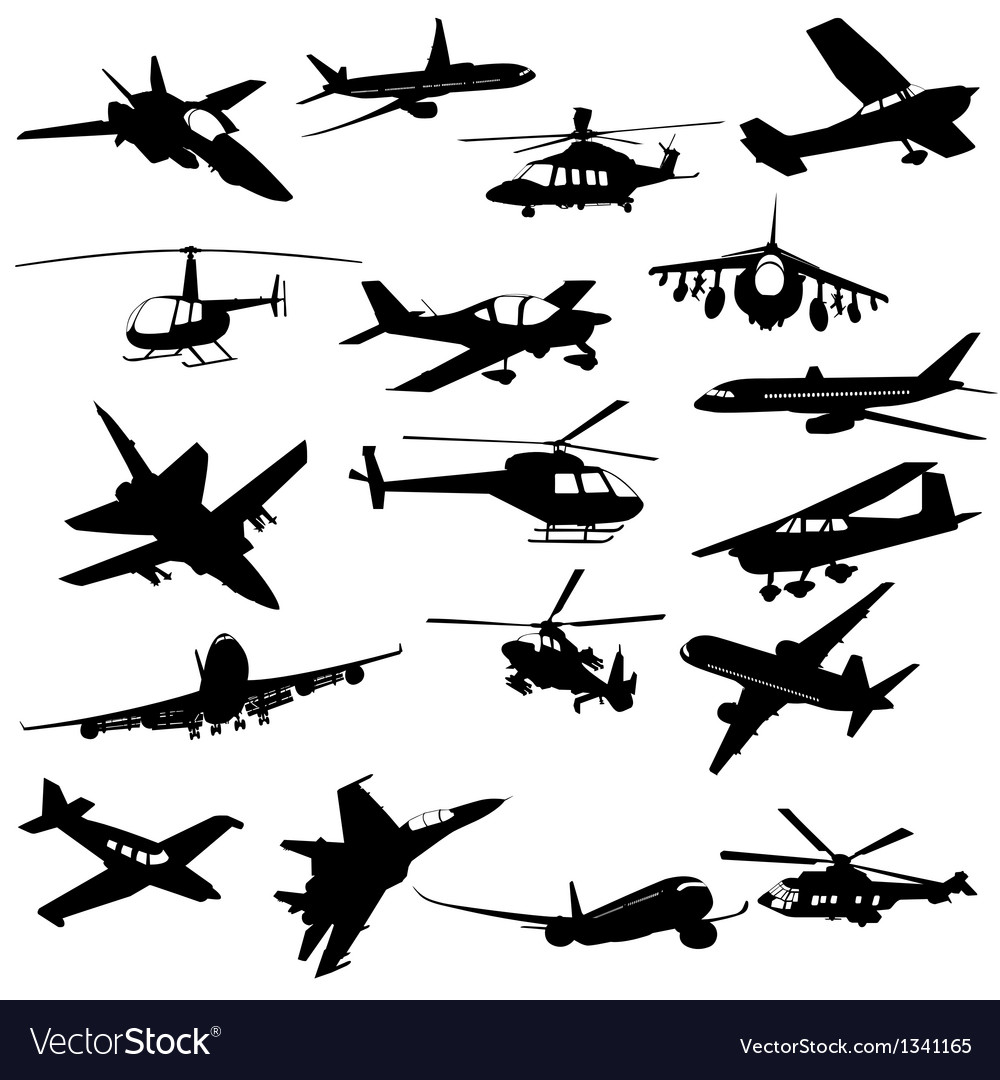 Silhouette aviation vector | Price: 1 Credit (USD $1)