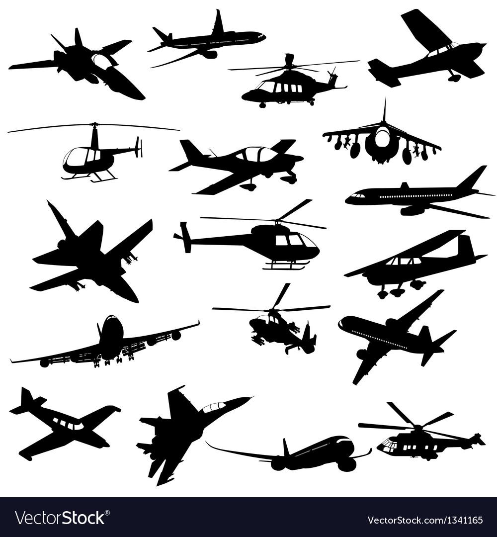 Silhouette aviation vector | Price: 1 Credit (USD $1)