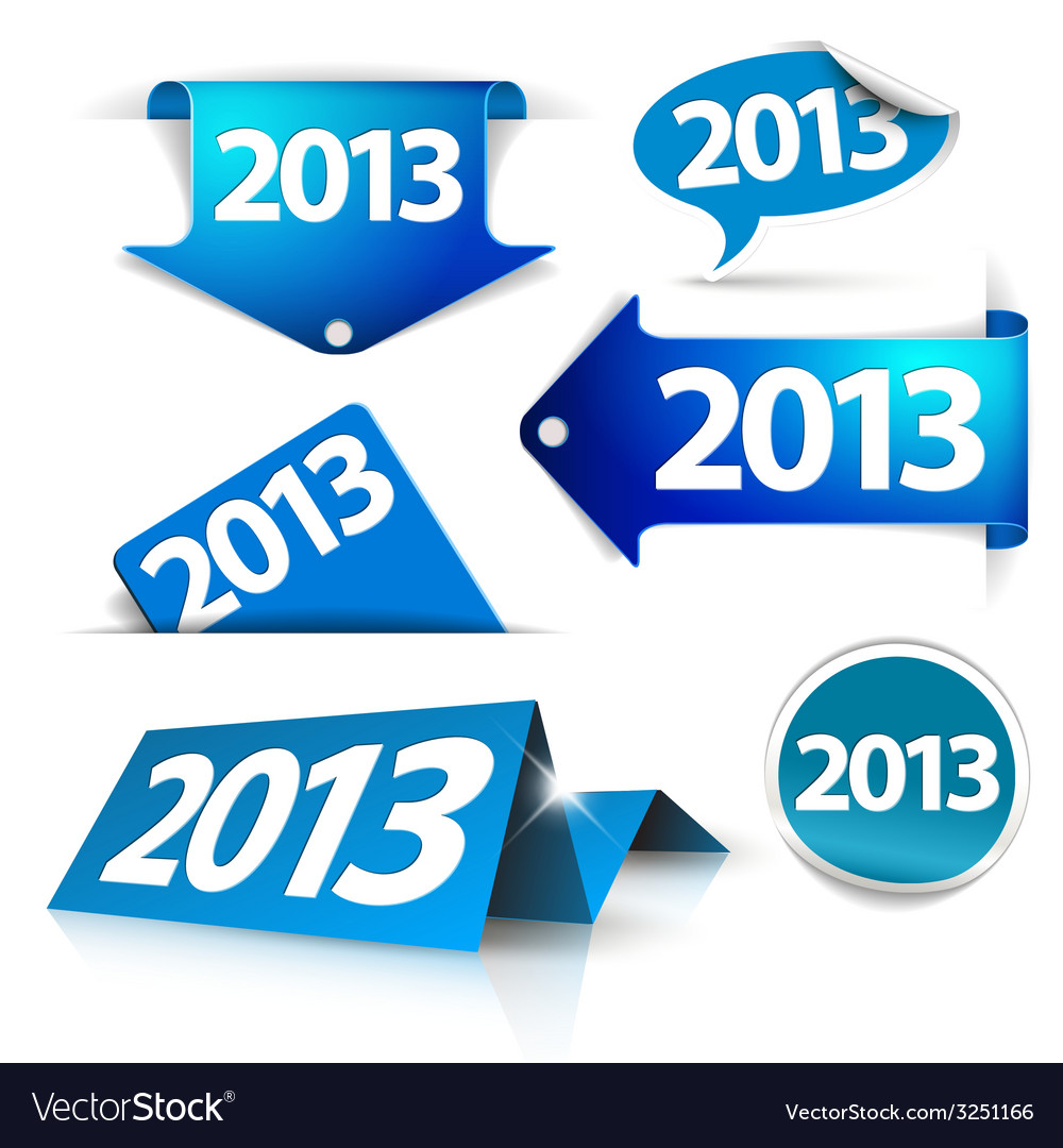 2013 labels stickers pointers tags vector | Price: 1 Credit (USD $1)