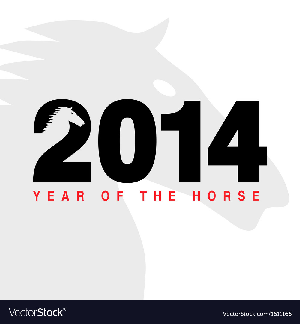 2014 - year of the horse vector | Price: 1 Credit (USD $1)