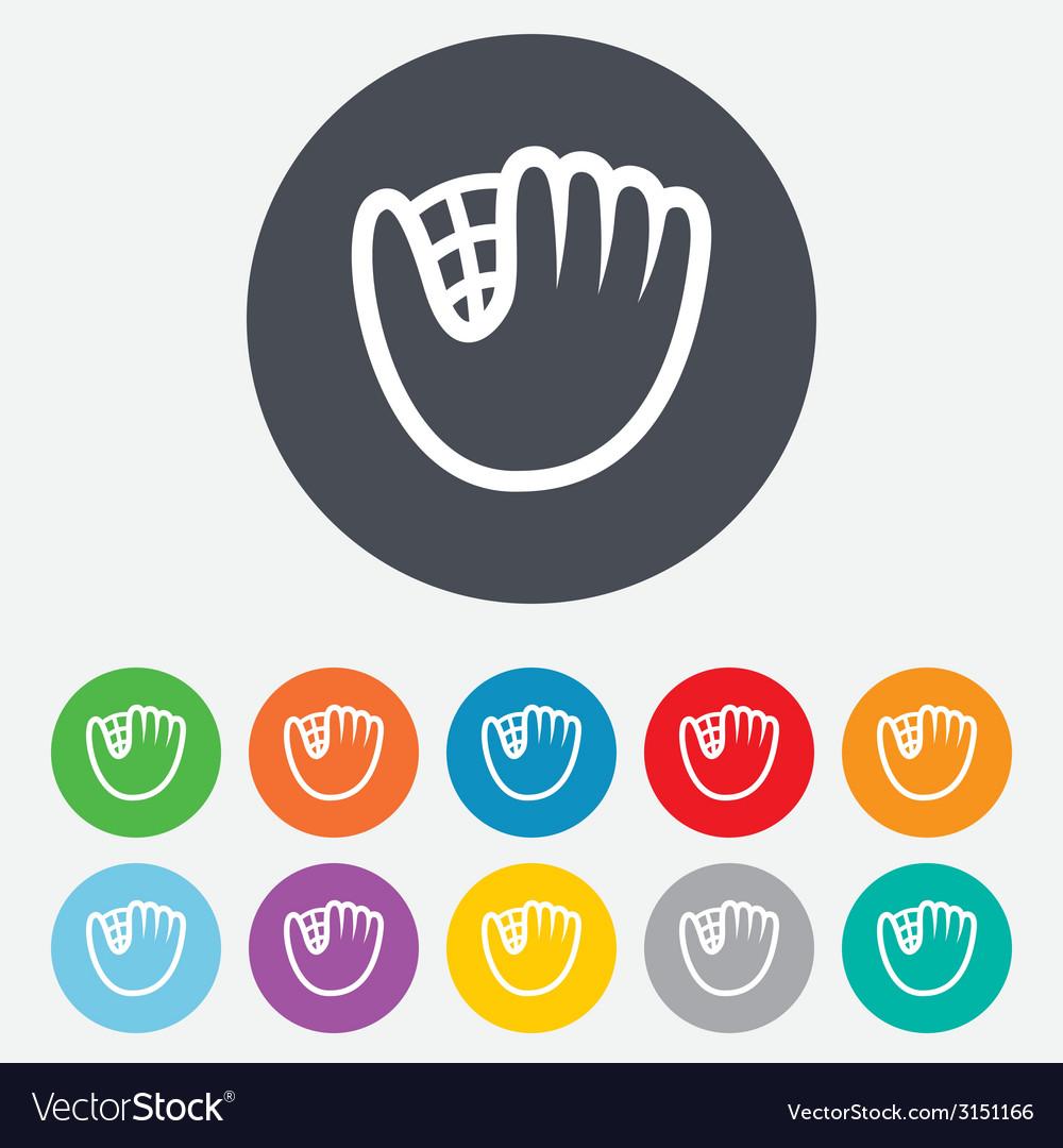Baseball glove sign icon sport symbol vector   Price: 1 Credit (USD $1)