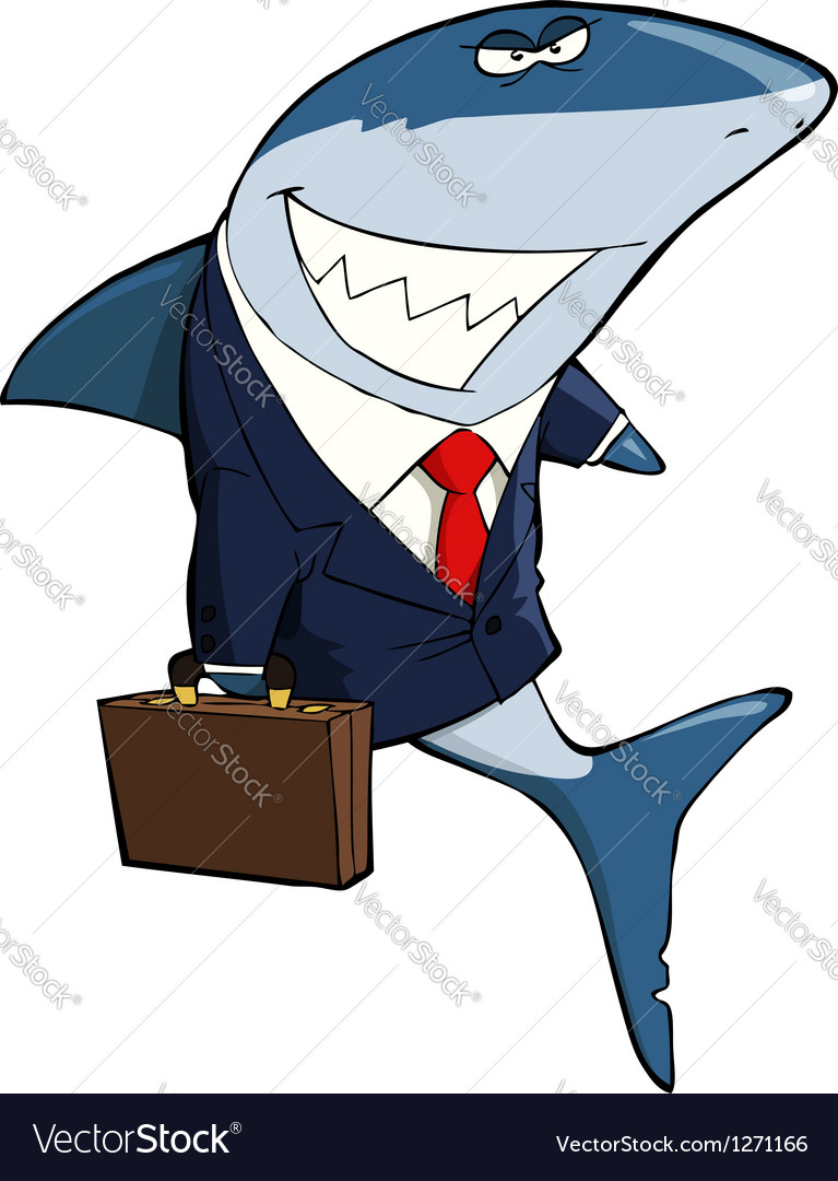 Business shark vector | Price: 1 Credit (USD $1)