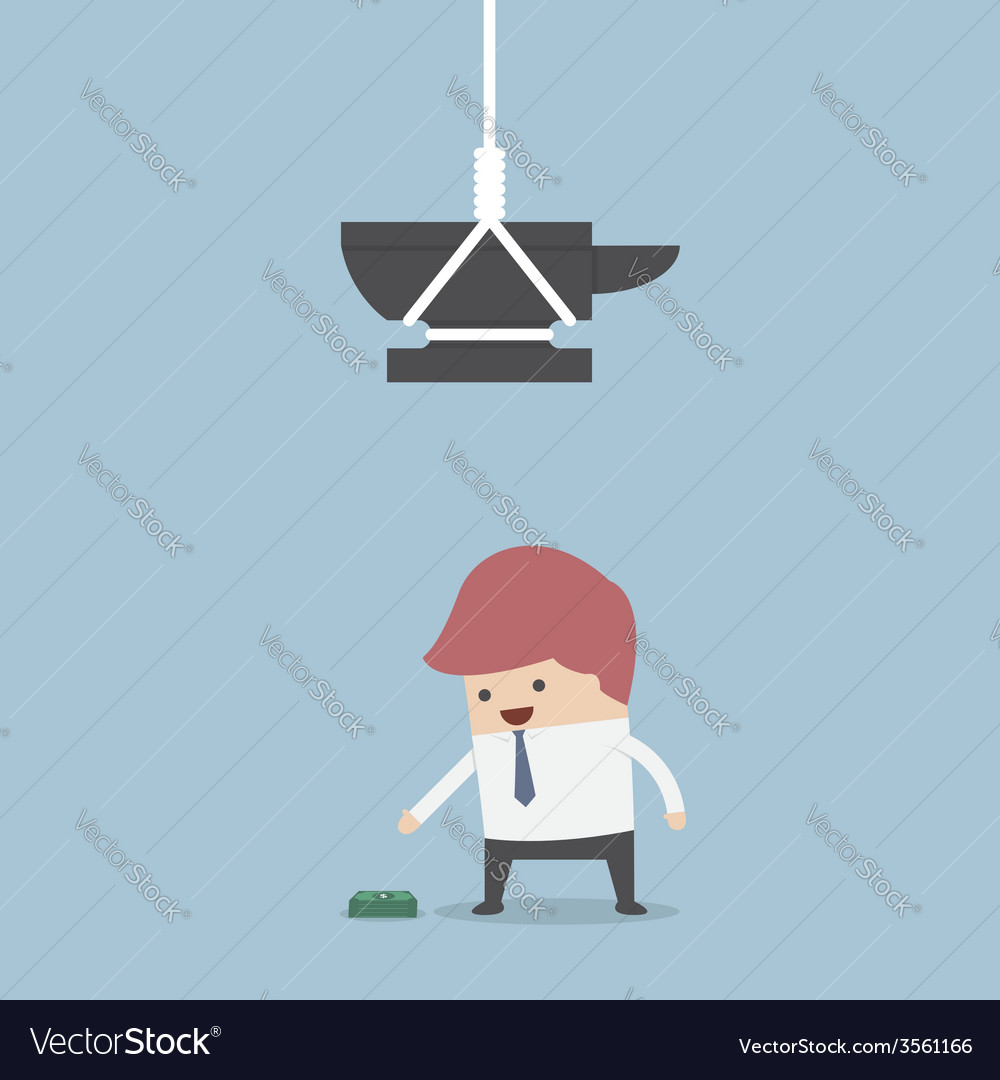 Businessman and money trap vector | Price: 1 Credit (USD $1)