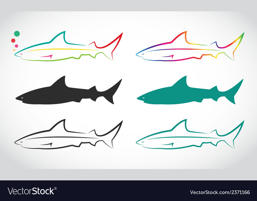 Group of shark vector | Price: 1 Credit (USD $1)