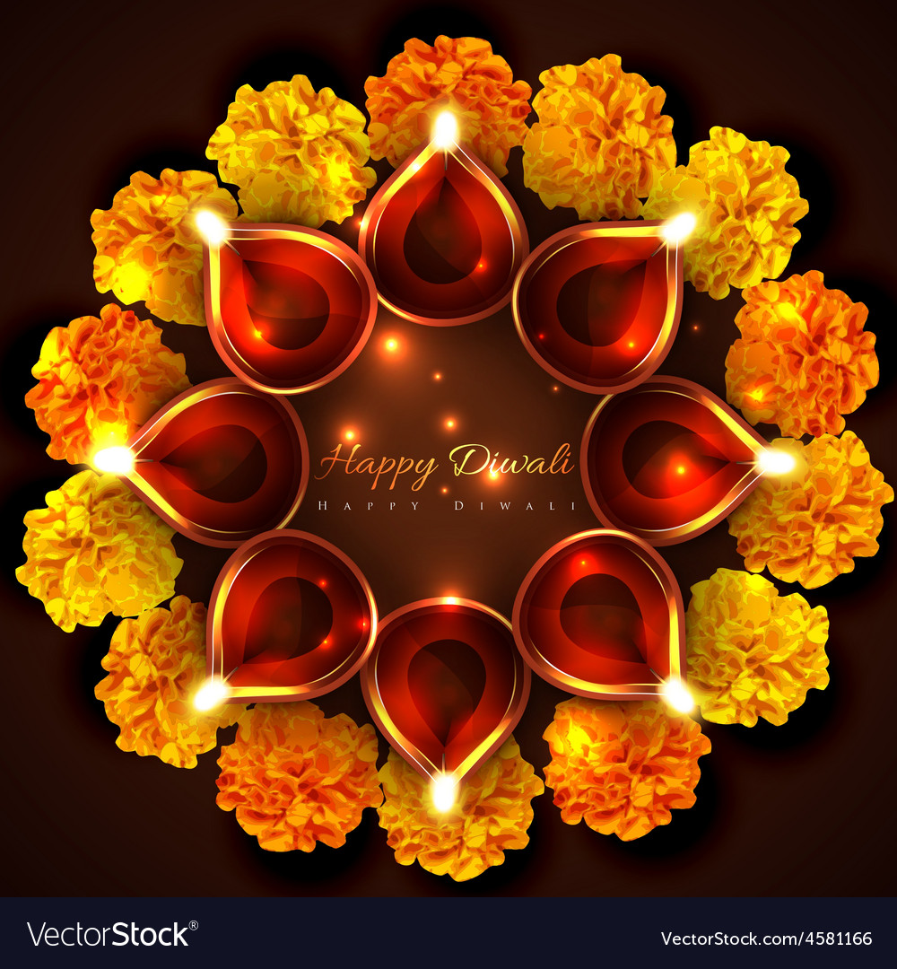 Hindu festival background of diwali vector | Price: 1 Credit (USD $1)