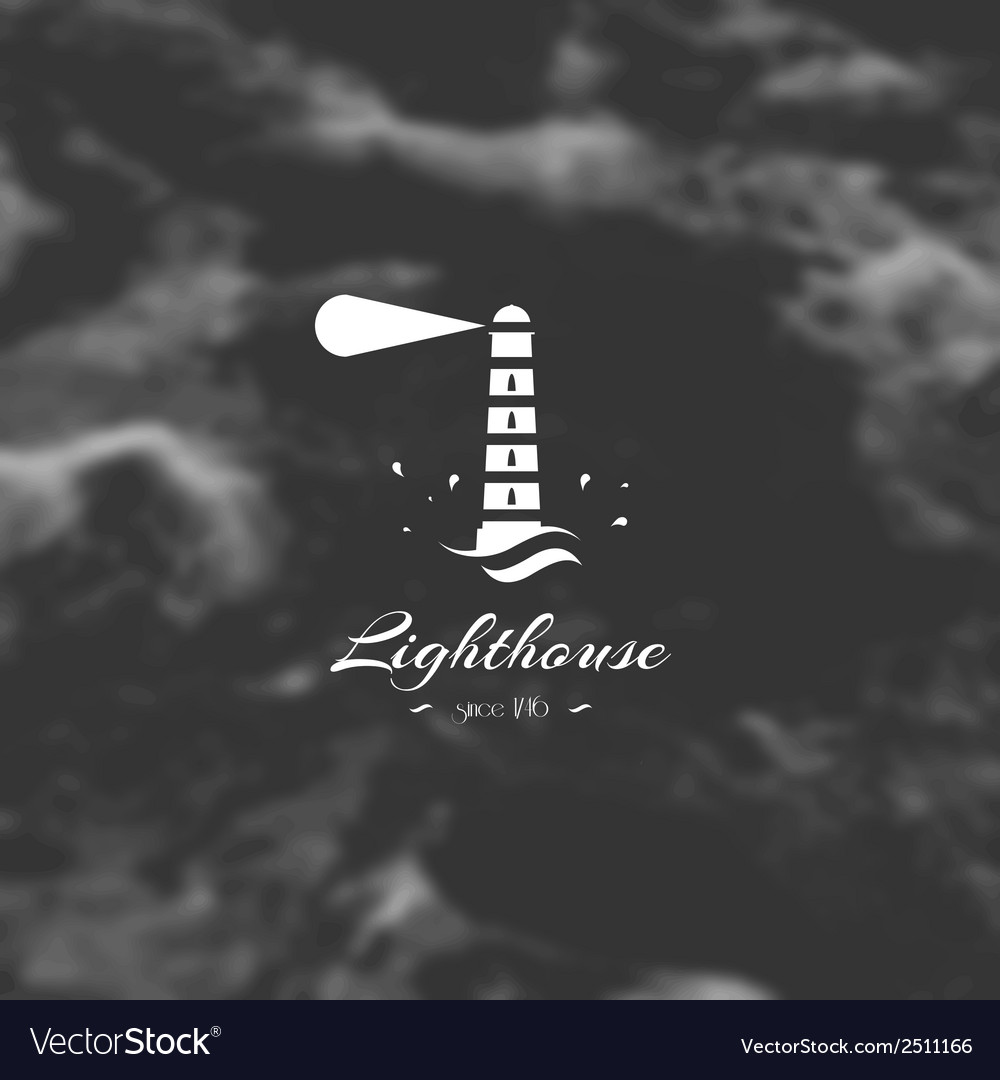 Lighthouse element for design silhouette sign vector | Price: 1 Credit (USD $1)