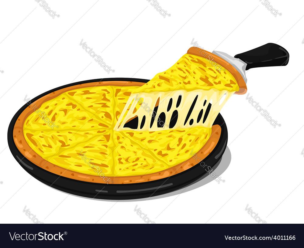 Pizza cheese slice vector | Price: 1 Credit (USD $1)