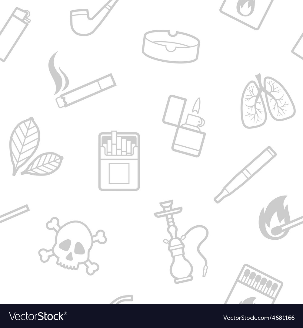 Seamless pattern of smoking elements vector | Price: 1 Credit (USD $1)