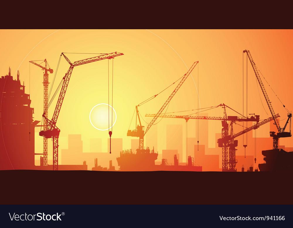 Tower cranes vector   Price: 1 Credit (USD $1)