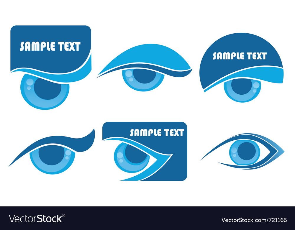 Vision symbols vector | Price: 1 Credit (USD $1)