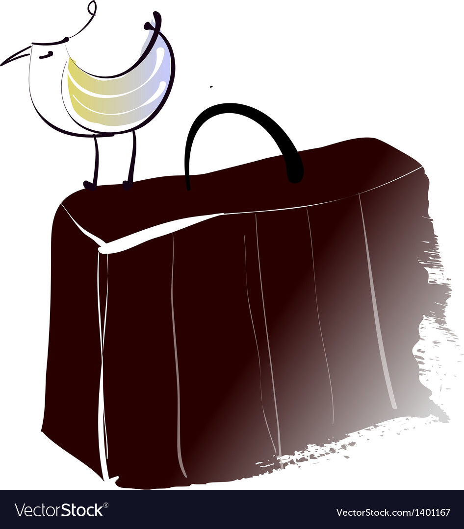 A briefcase is placed vector