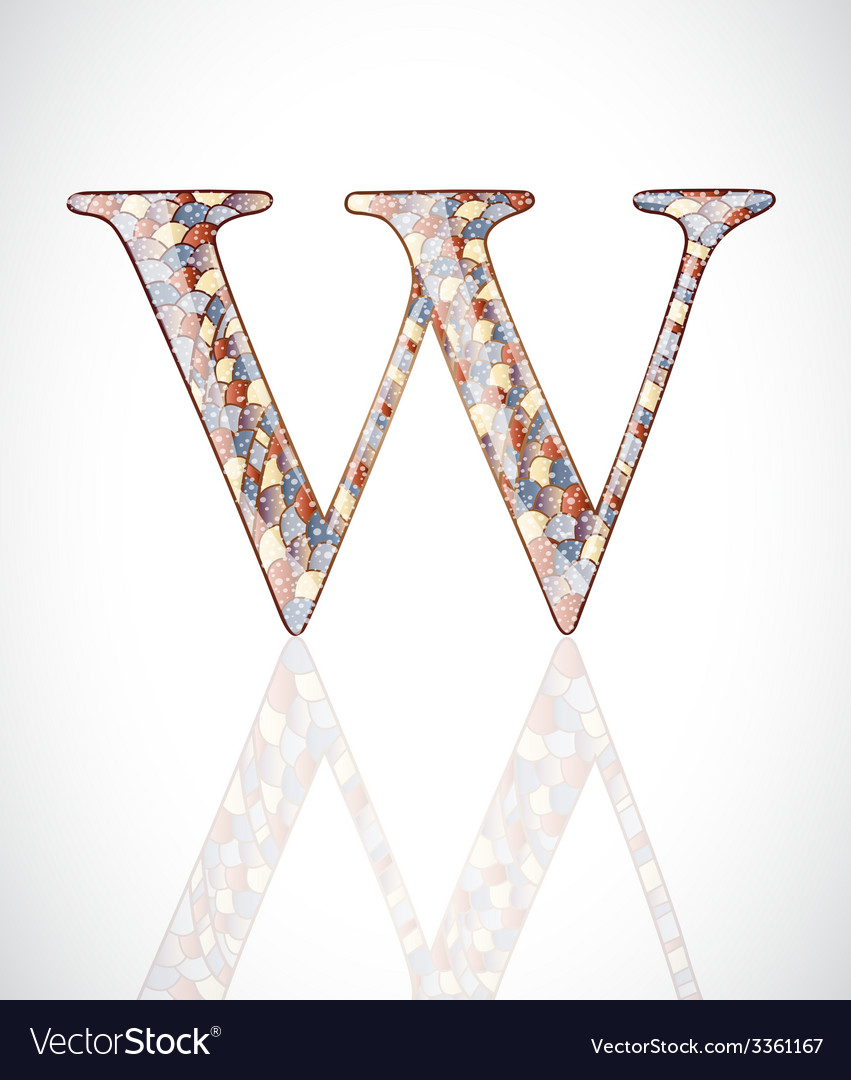 Abstract letter w vector | Price: 1 Credit (USD $1)