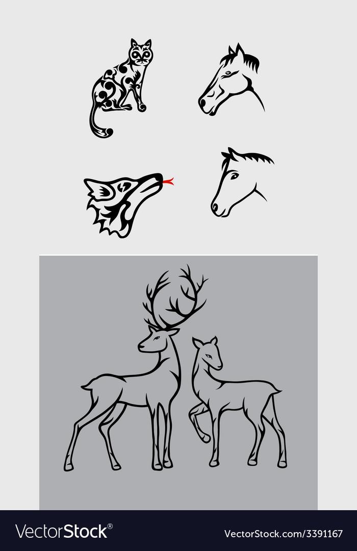 Animal set vector | Price: 1 Credit (USD $1)