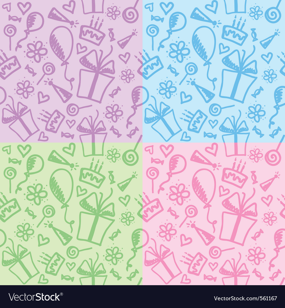 Birthday patterns vector | Price: 1 Credit (USD $1)