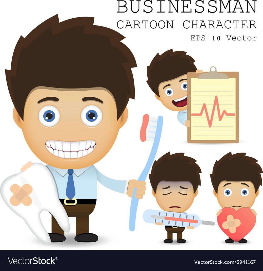 Businessman cartoon character eps 10 vector   Price: 1 Credit (USD $1)