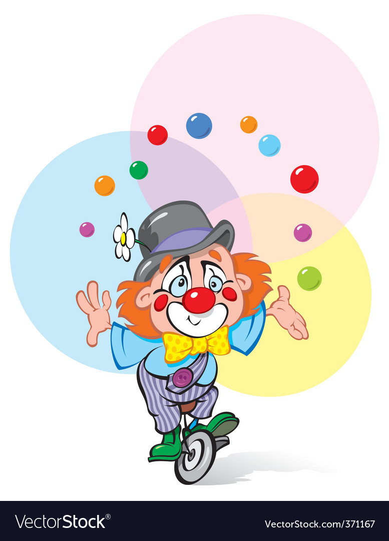 Clown juggler vector | Price: 3 Credit (USD $3)