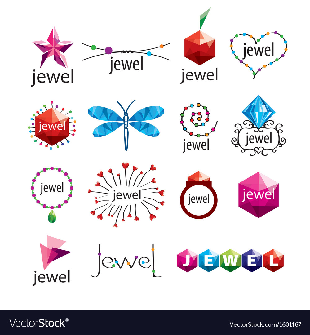 Collection of logos jewelry vector   Price: 1 Credit (USD $1)