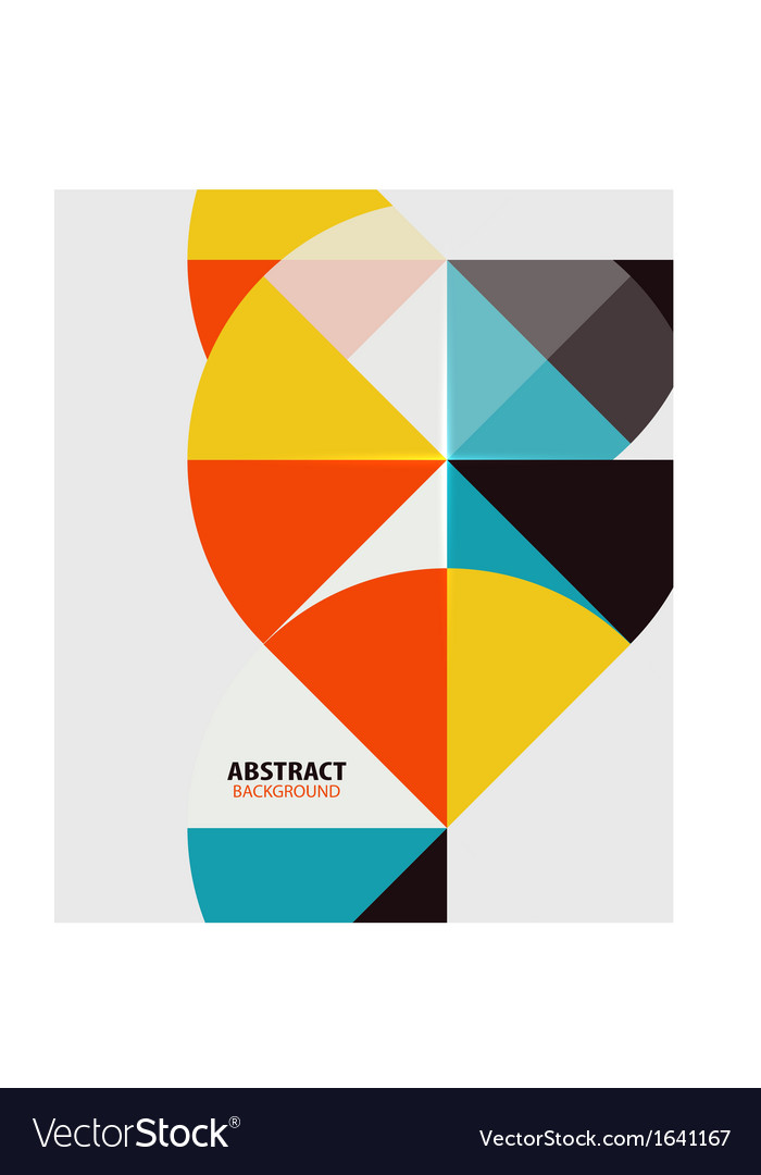 Colorful geometrical modern art minimal template vector | Price: 1 Credit (USD $1)