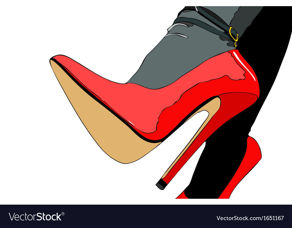 Elegant sexy shoes vector | Price: 1 Credit (USD $1)