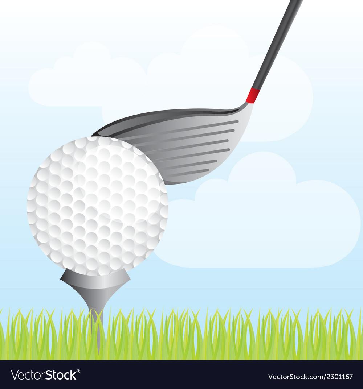 Golf club vector | Price: 1 Credit (USD $1)