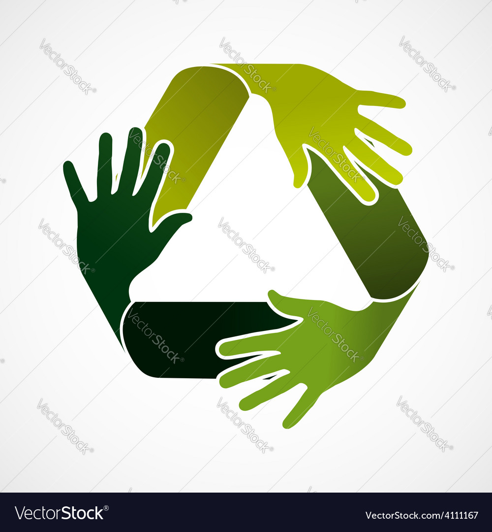 Recycle teamwork concept vector | Price: 1 Credit (USD $1)