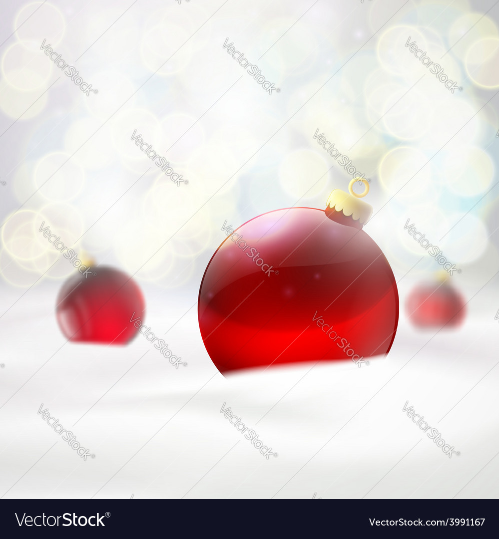 Red balls lying in the snow vector | Price: 1 Credit (USD $1)