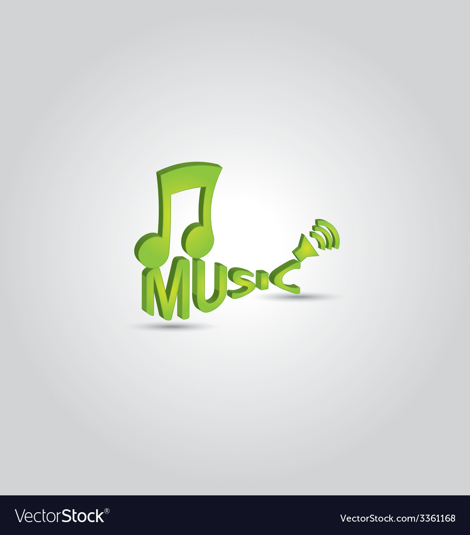 3d music note 2 vector | Price: 1 Credit (USD $1)