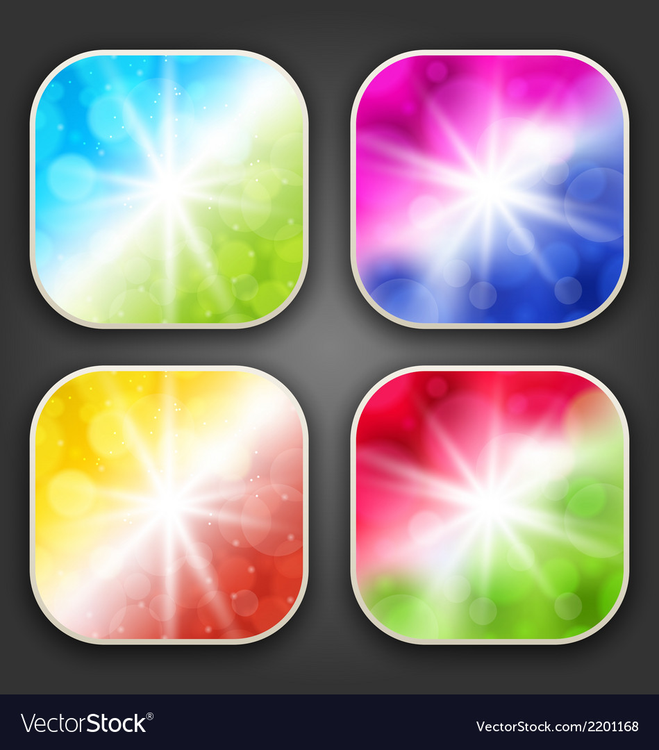 Abstract backgrounds with for the app icons vector | Price: 1 Credit (USD $1)