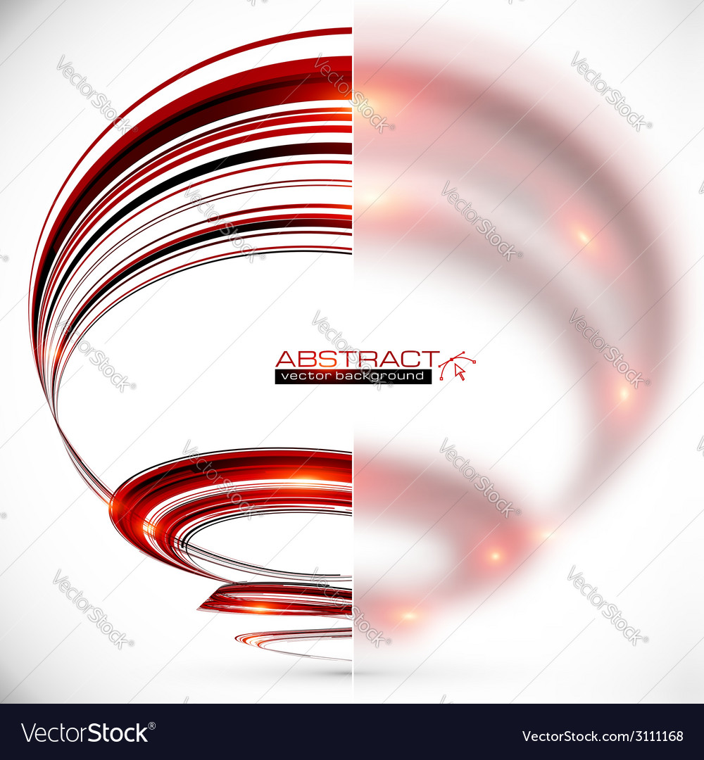Abstract spiral with blurred glass banner vector | Price: 1 Credit (USD $1)