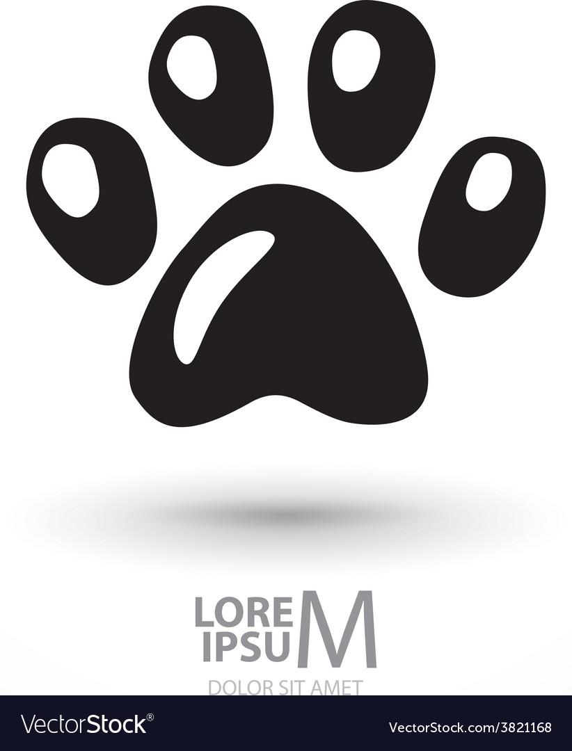 Animal footprint vector | Price: 1 Credit (USD $1)