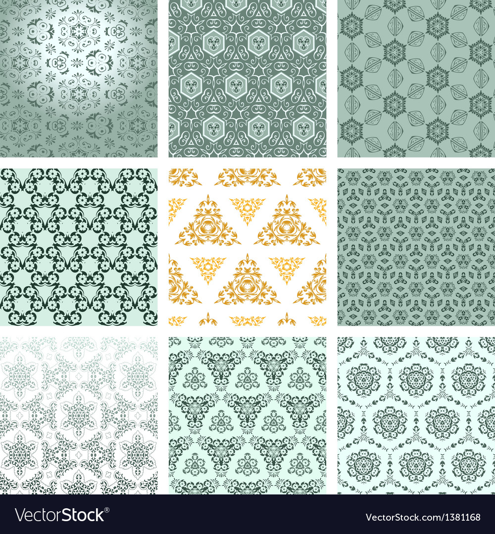 Baroque floral pattern vector | Price: 1 Credit (USD $1)