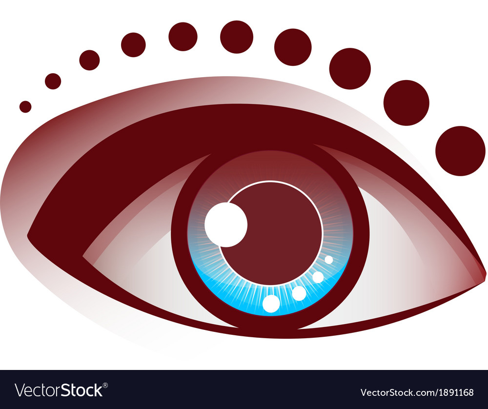 Beautiful eye brown and blue pupil vector | Price: 1 Credit (USD $1)